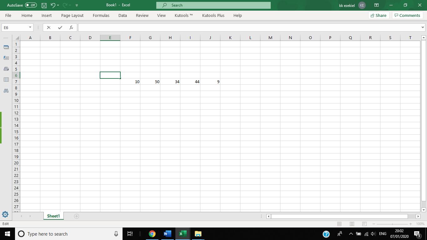Cómo calcular el rango en Excel 1