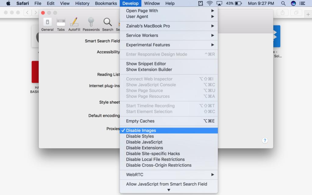 Arreglar que Safari no cargue imágenes en el Mac 3