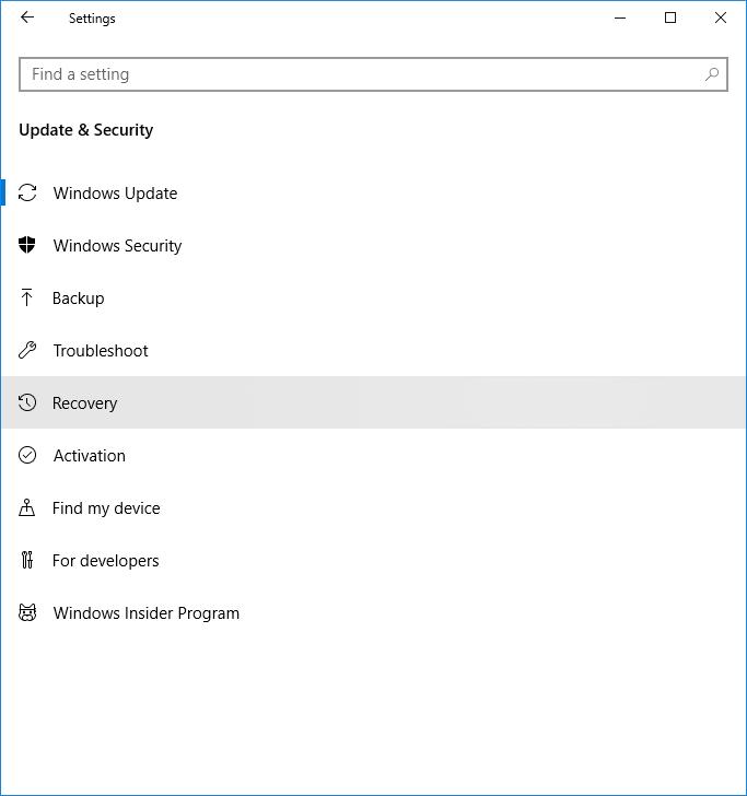 Cómo dar formato a Windows 10 2