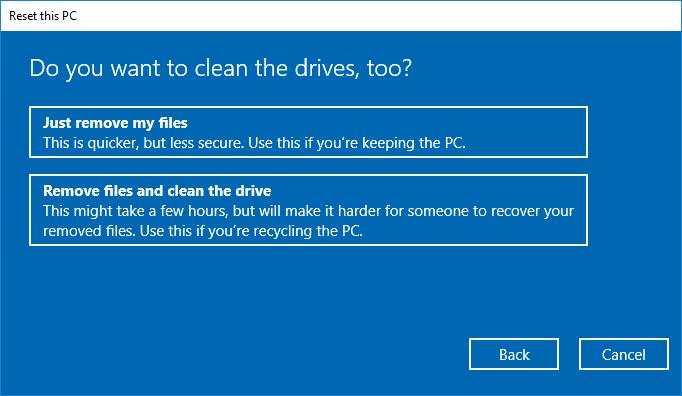 Cómo dar formato a Windows 10 5