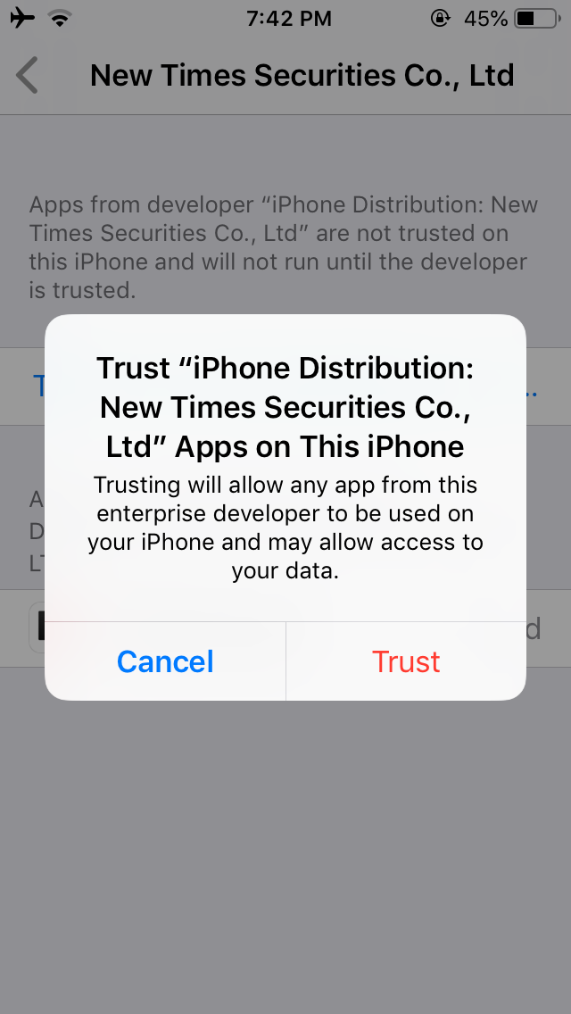 Cómo confiar en una aplicación en el iPhone 4