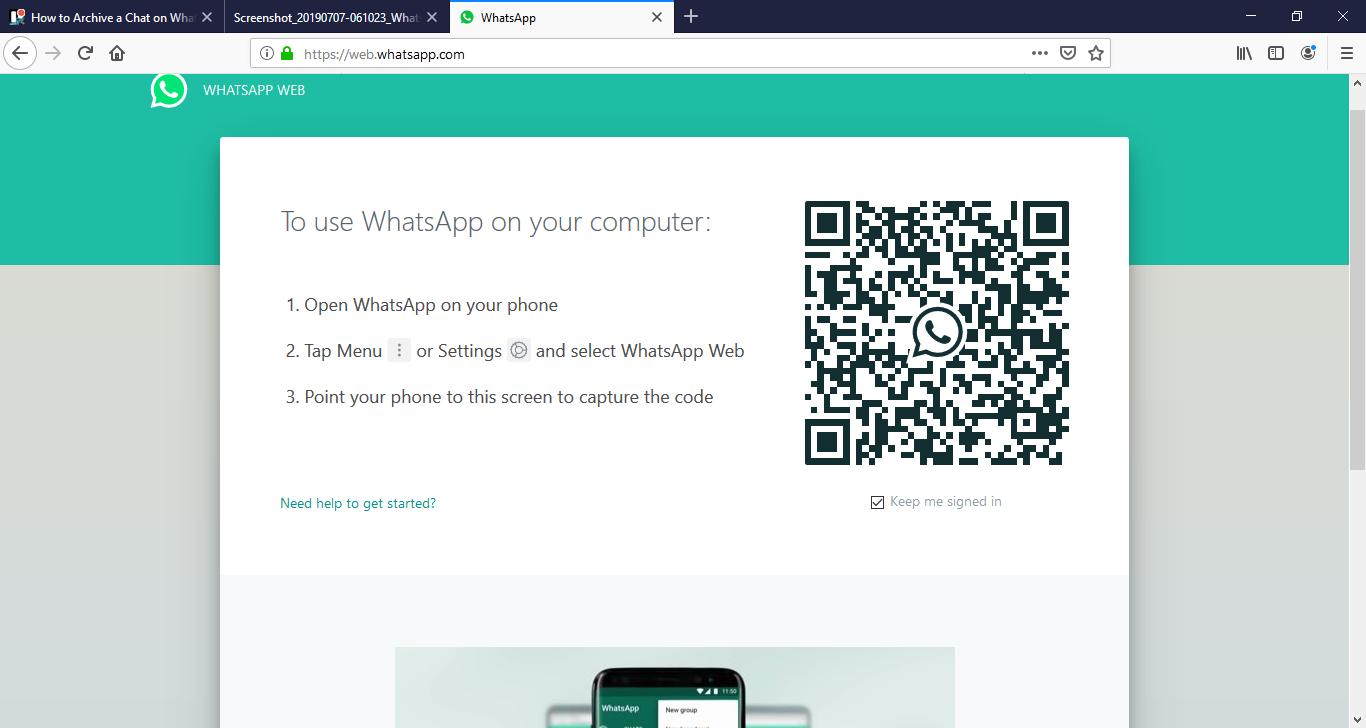 Cómo archivar el chat en WhatsApp 3