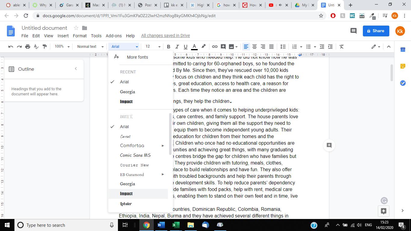 Cómo hacer que los períodos sean más grandes en Google Docs 2