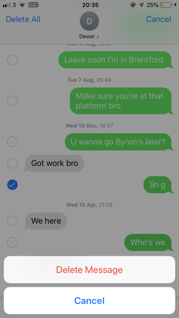 Cómo borrar mensajes de texto del iPhone 4