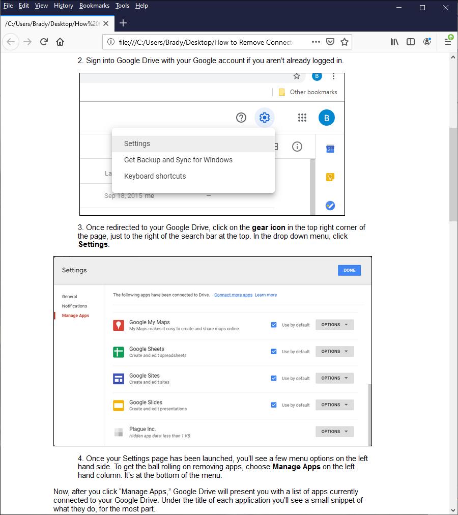 Cómo convertir un Google Doc a HTML 4