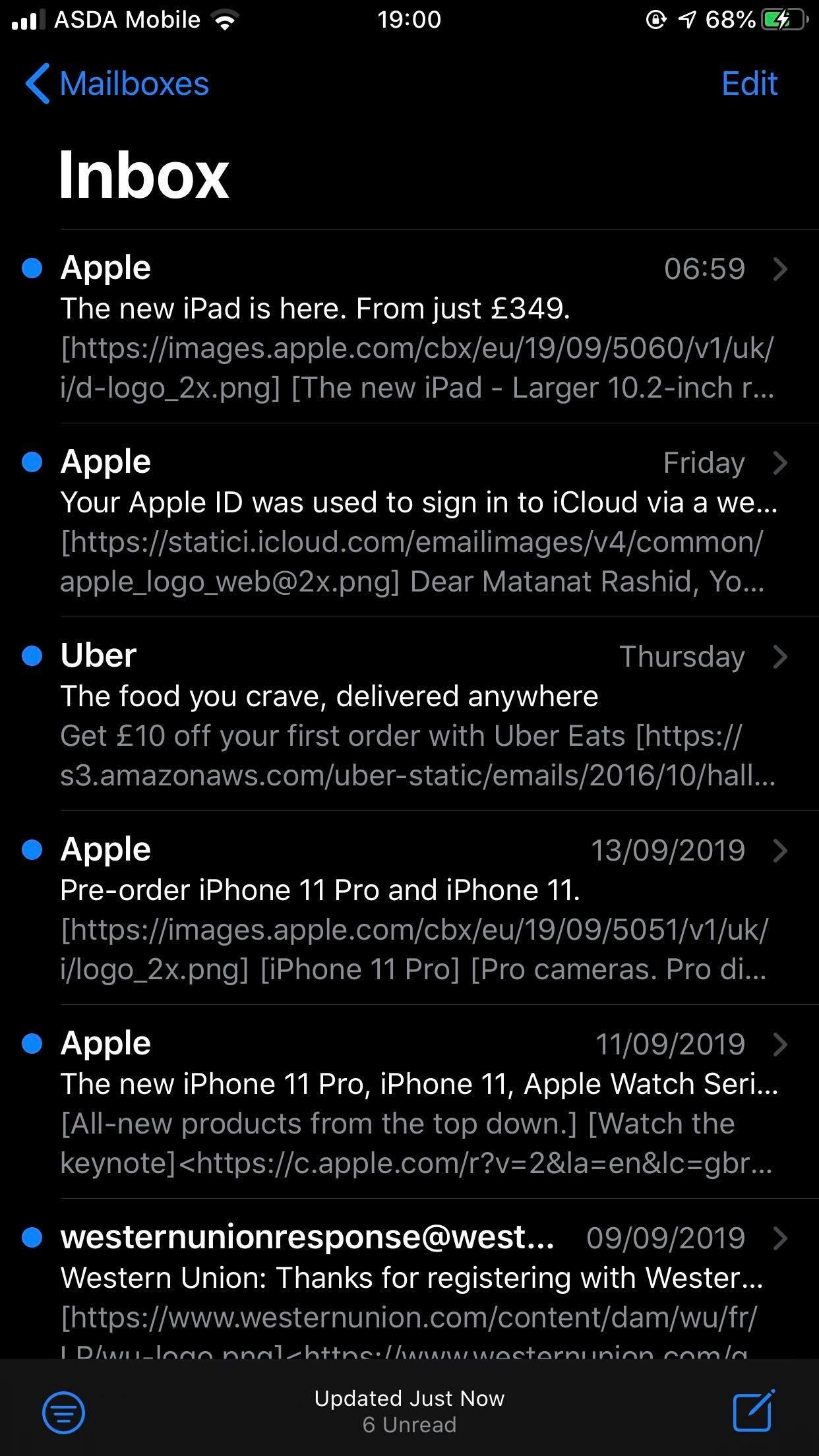 Cómo marcar todos los correos electrónicos como leídos en el iPhone 1