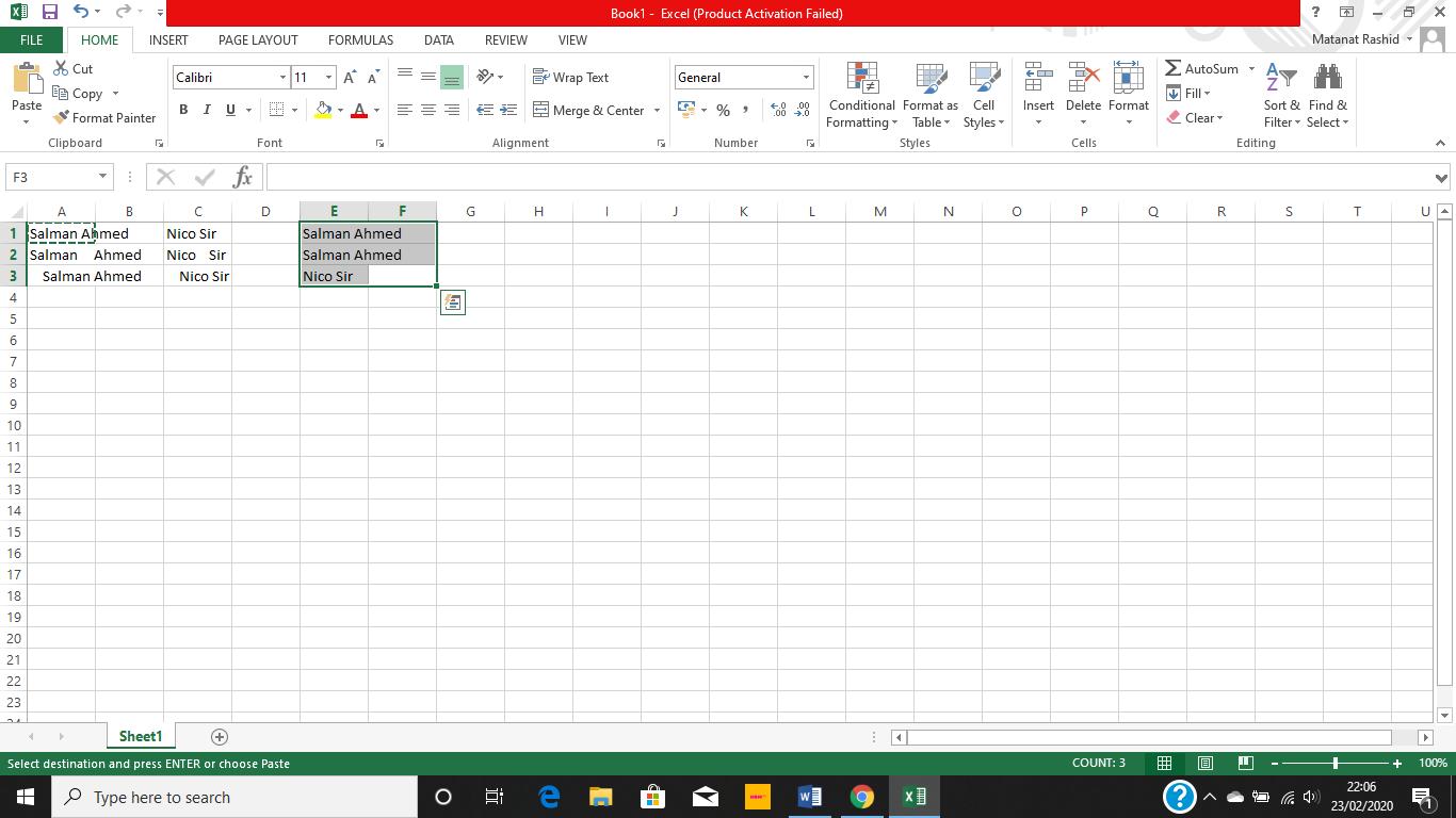 Cómo eliminar los espacios entre los números y las palabras en Excel 2