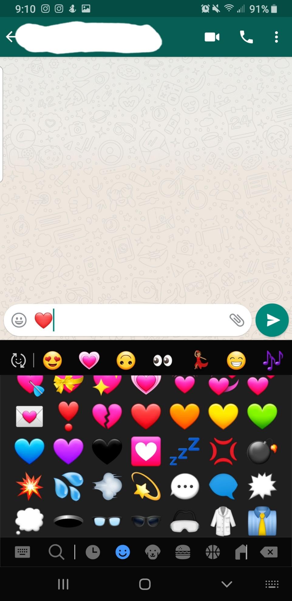Cómo enviar el corazón palpitante Emoji en WhatsApp 4