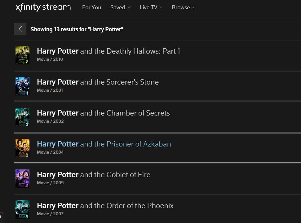 7 mejores lugares para ver películas de Harry Potter en línea 5