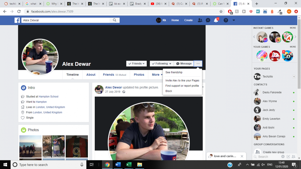 Cómo ver tus amistades en Facebook 5