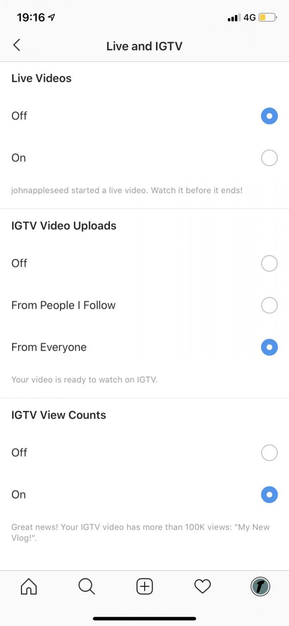 Cómo desactivar las notificaciones de video en vivo en Instagram 5