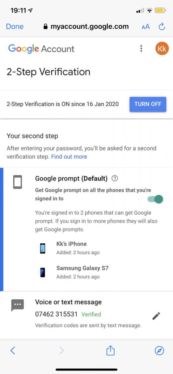 ¿Puedes añadir varios números de teléfono a la cuenta de Google? 14