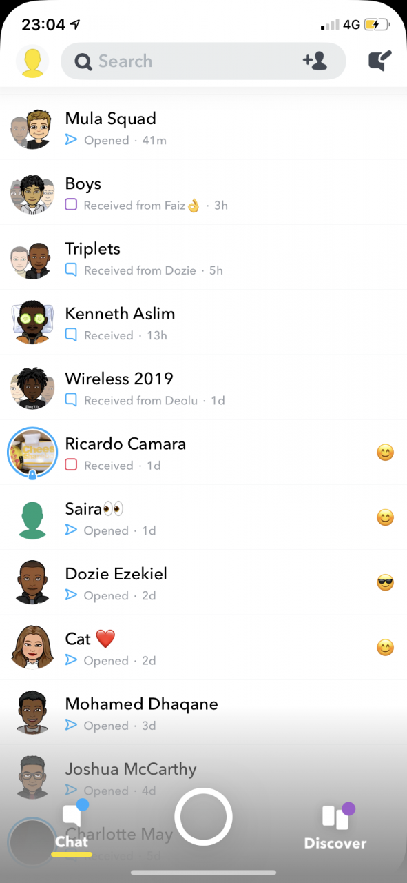 Cómo guardar mensajes de texto en Snapchat 2