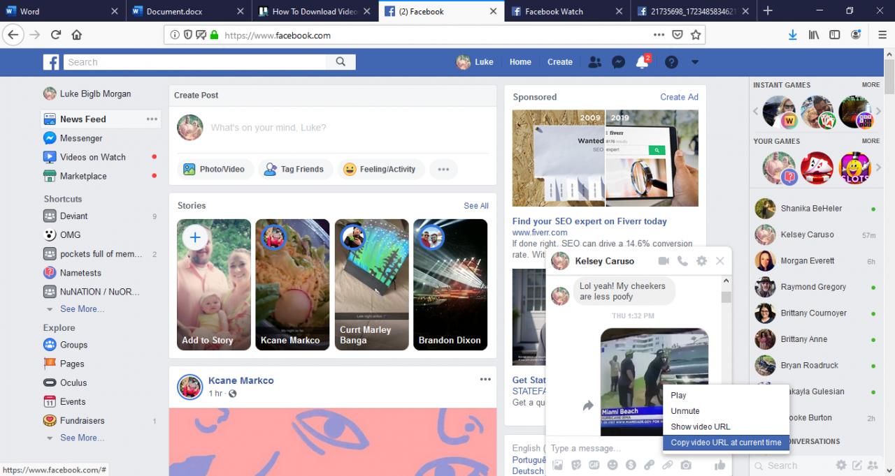 Cómo descargar videos de Facebook Messenger 1
