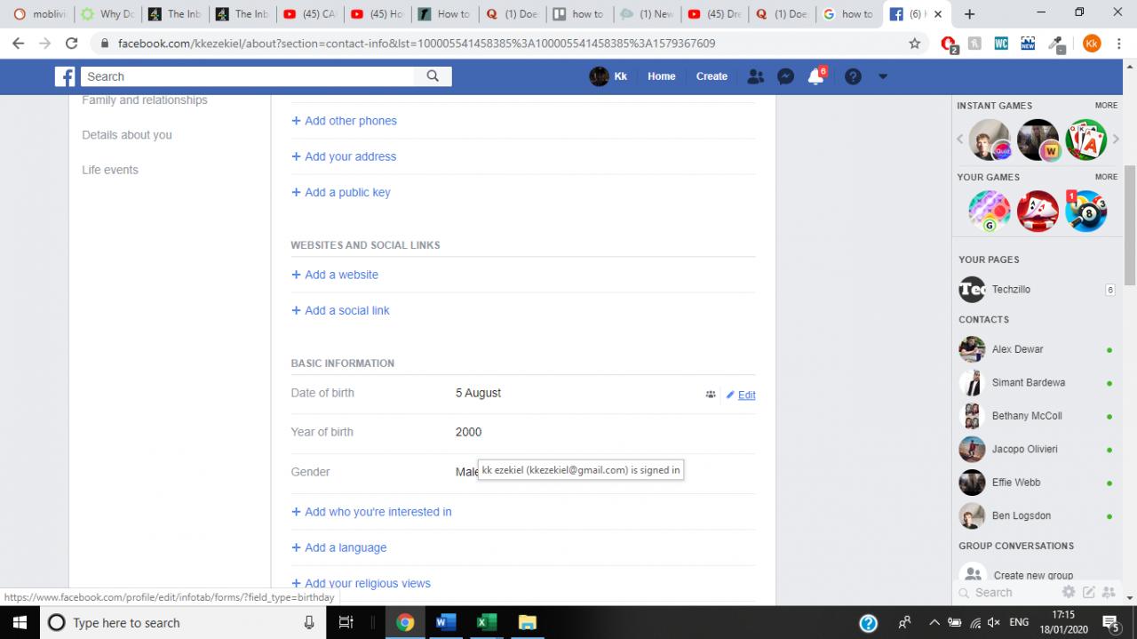 Cómo cambiar el cumpleaños en Facebook 7