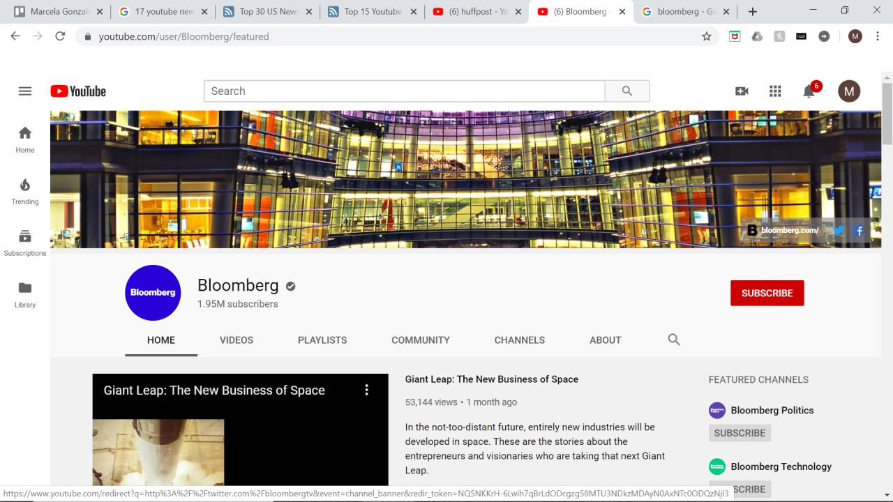 17 mejores canales de noticias de Youtube a seguir 6