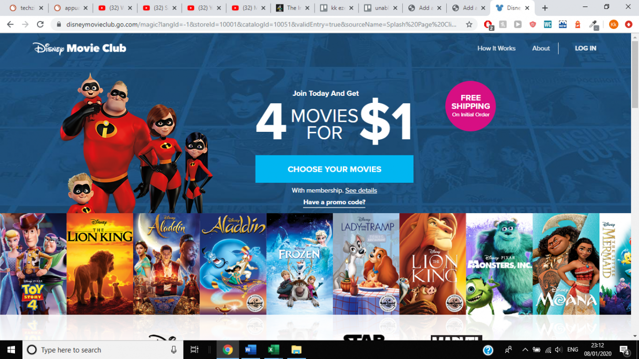 Cómo cancelar la membresía del Disney Movie Club 1
