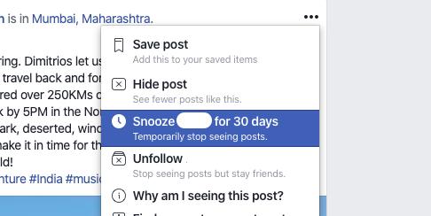 Cómo ocultar a alguien en Facebook 1