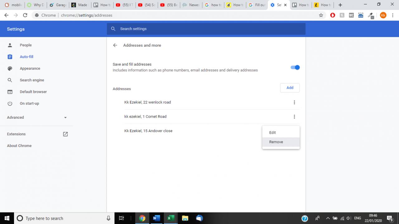Cómo actualizar la función de autorrelleno en Google Chrome 7